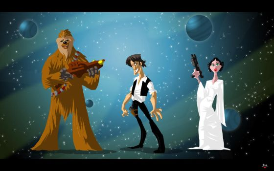 Chewbacca Han Leia by themico