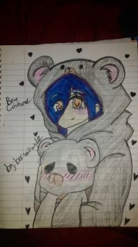 girl in bear sostume by borisairay12