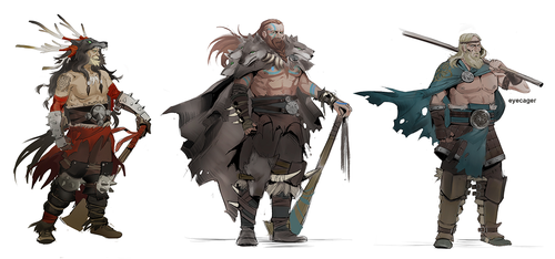 Human Vikings Roughs by Eyecager