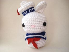 The Stay Puft Marshmallow Man Moon Bun by MoonYen