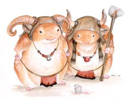 Battle Hamsters of the North by ursulav