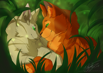 Firestar and Sandstorm by Soft--Cookie