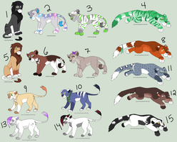 Feline Point Adopts -CLOSED- by PoodleFradoodle