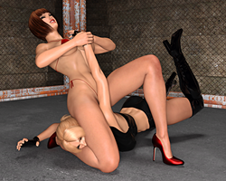 Nina Vs Anna: Arm Bar Takedown 5 by FatalHolds