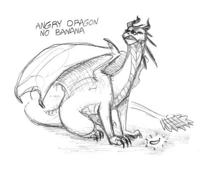 angry dragon no banana by JoJoBynxFwee
