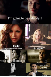 klaus telling poeple hes going to be a dad by dleduc