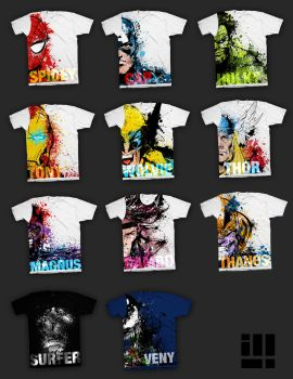 Marvel Tees by illeye