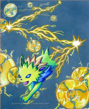 Bolt for it, Jolteon! by RoamingDragon