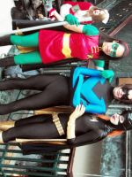 Robin, Nightwing, And Batgirl by Neville6000
