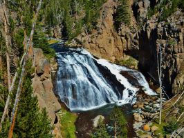 Falls in Yellowstone by bootlacephotography