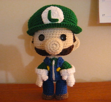 Luigi Sackboy by Goldenjellybean