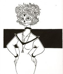 Inktober Day 16- Day of the Dead by jenc