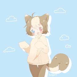 [C] Kitty in a sweater by luupon