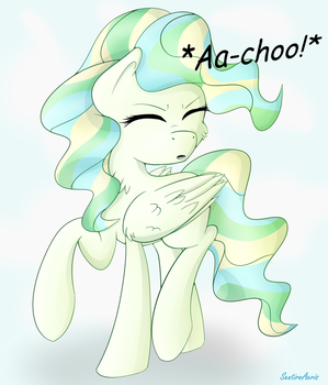 Vapour Trail Has The Cutest Sneeze! by SentireAeris