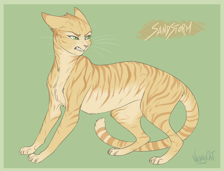 Warrior Cats - Sandstorm by VanyCat