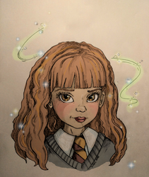 Young Hermione Granger by JadeDragonne