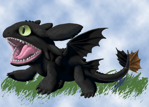 Chibi Toothless by Zyarrihl