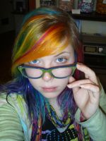 Rainbow holographic hair by MeganYourFace