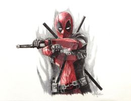 Deadpool Ballpoint Pen by OMKDrawings