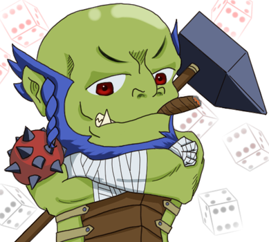 Half-Orc Barbarian by tacotown