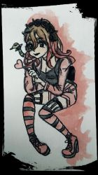 Red Hero in Goth Pastel by RemyCygnus1601