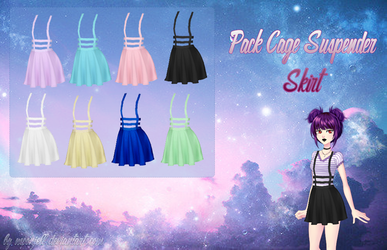Amor Doce - Pack Cage Suspender Skirt by moonjell