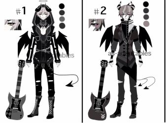 monochromatic demon singer adoptableS CLOSED by AS-Adoptables