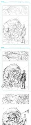 Invincible 84 page 12 pencil process by RyanOttley