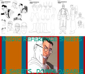 TF2 Medic practice/reference Sheets by TheDarkwoodsCircus