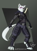 For Azurius: Battle-Ready Alopex by Omny87