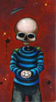 Skeleton Boy with Eggs by bryancollins