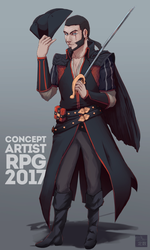 Pirate Captain special for ConceptartistRPG by aConst