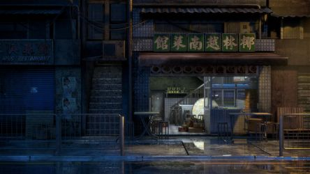 [Kowloon At Nite] Little Restaurant by hoangphamvfx