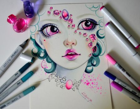 Pink Tourmaline by Lighane
