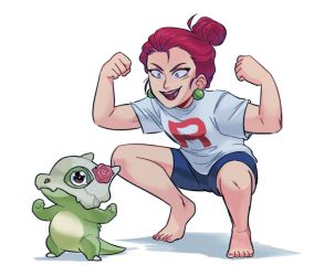 Jessie and Cubone by kianamai