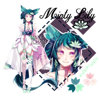 [CLOSED] Minty Lily ADOPTABLE by Natx-chan