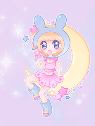Moon Bunny by Jelly-Ultra