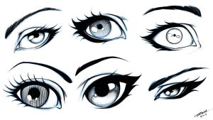 Eyes 6 Different Styles by robertmarzullo
