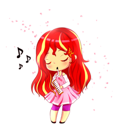 [GIFT] Sunset's Melodica by Electric-Shine