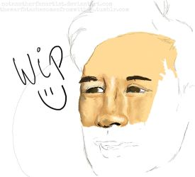 Markiplier (Portrait/proportion practice) WIP by NotAnotherFanArtist
