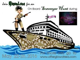 AfterGLOW Cruise Scavenger Hunt Flyer by simplemanAT