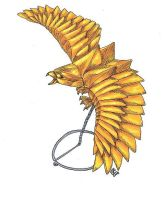 Golden Paper Eagle Magic Item by AbstractPagan