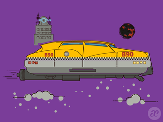 Korben's Taxi by pica-ae