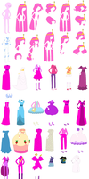 Adventure Time Princess Bubblegum Base by SelenaEde