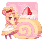 Strawberry Swiss Roll by DAV-19