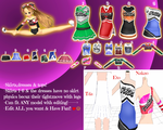 MMD Cheerleading outfits pack!Mix and Match!DL by TellisonK