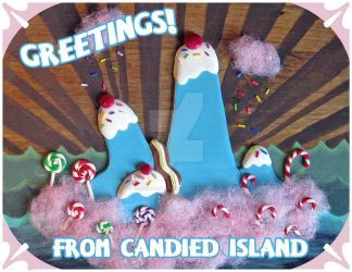 Greetings from Candied Island by egyptianruin