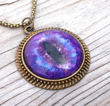Large Eye Pendant Purple by LilithLynx