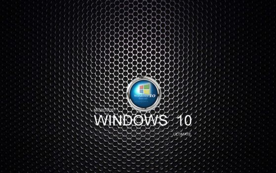 Microsoft 10 Wallpaper With Logo by ktb2424