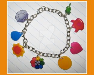 Pokemon Badge Charm Bracelet by quazo